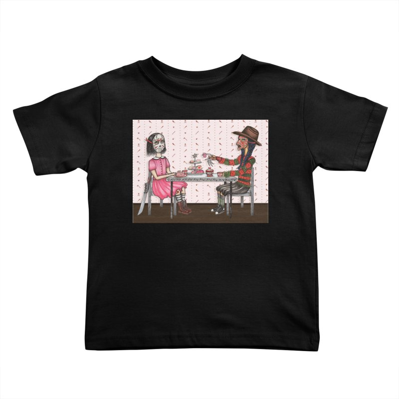 J's Tea Party on Elm Street Kids Toddler T-Shirt by serpenthes's Artist Shop