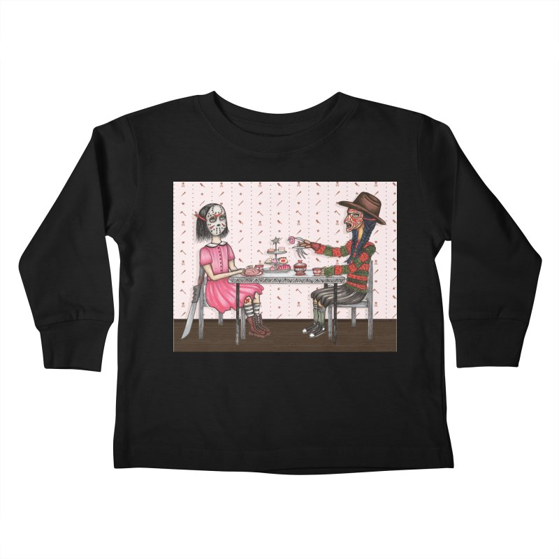 J's Tea Party on Elm Street Kids Toddler Longsleeve T-Shirt by serpenthes's Artist Shop