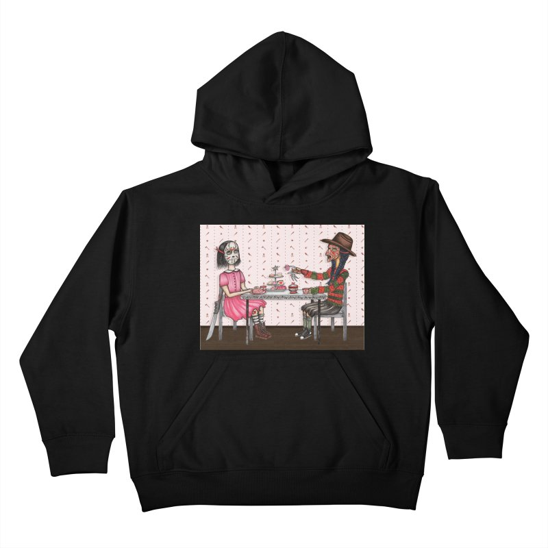 J's Tea Party on Elm Street Kids Pullover Hoody by serpenthes's Artist Shop