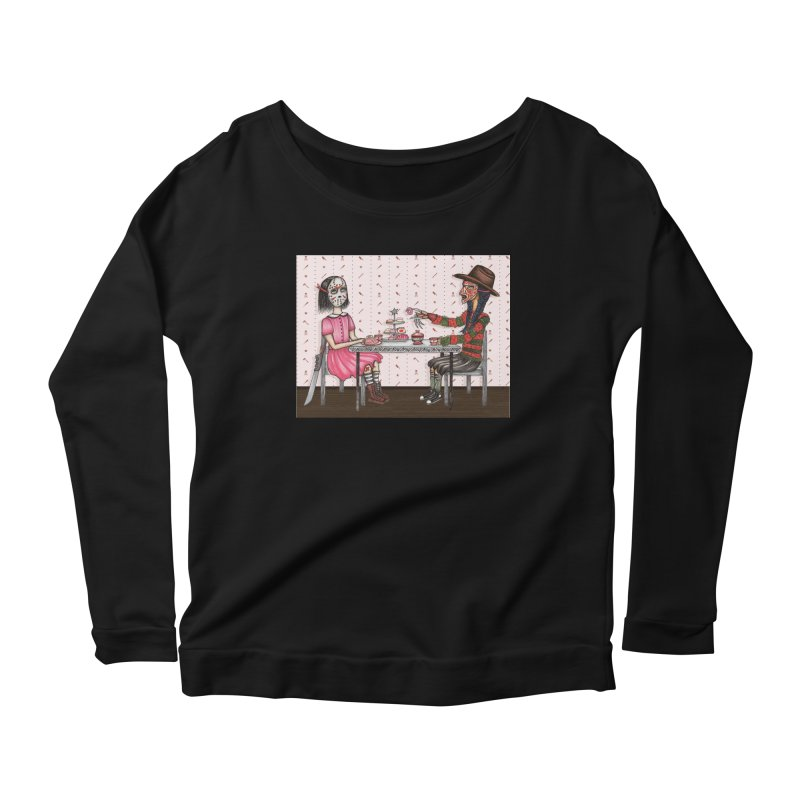 J's Tea Party on Elm Street Women's Scoop Neck Longsleeve T-Shirt by serpenthes's Artist Shop