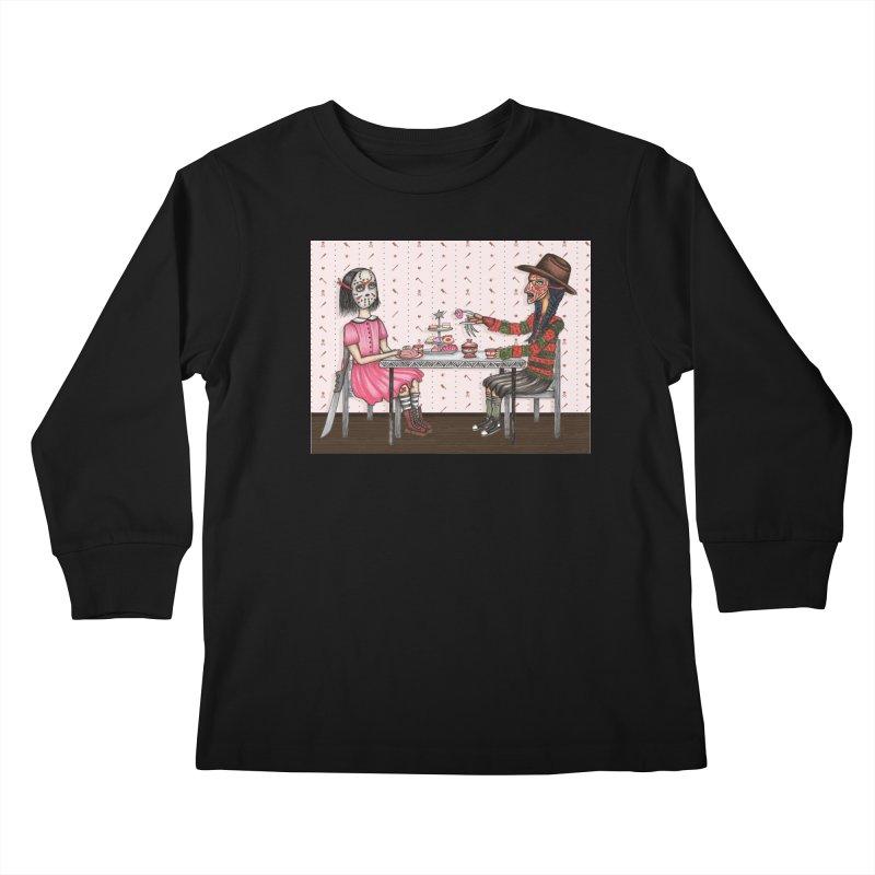 J's Tea Party on Elm Street Kids Longsleeve T-Shirt by serpenthes's Artist Shop