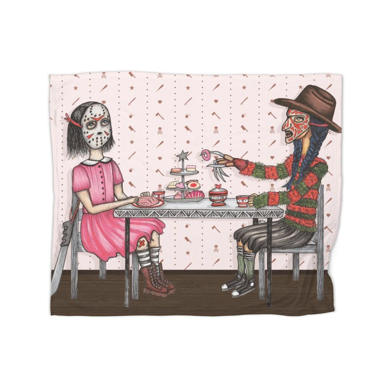 J's Tea Party on Elm Street Home Blanket by serpenthes's Artist Shop