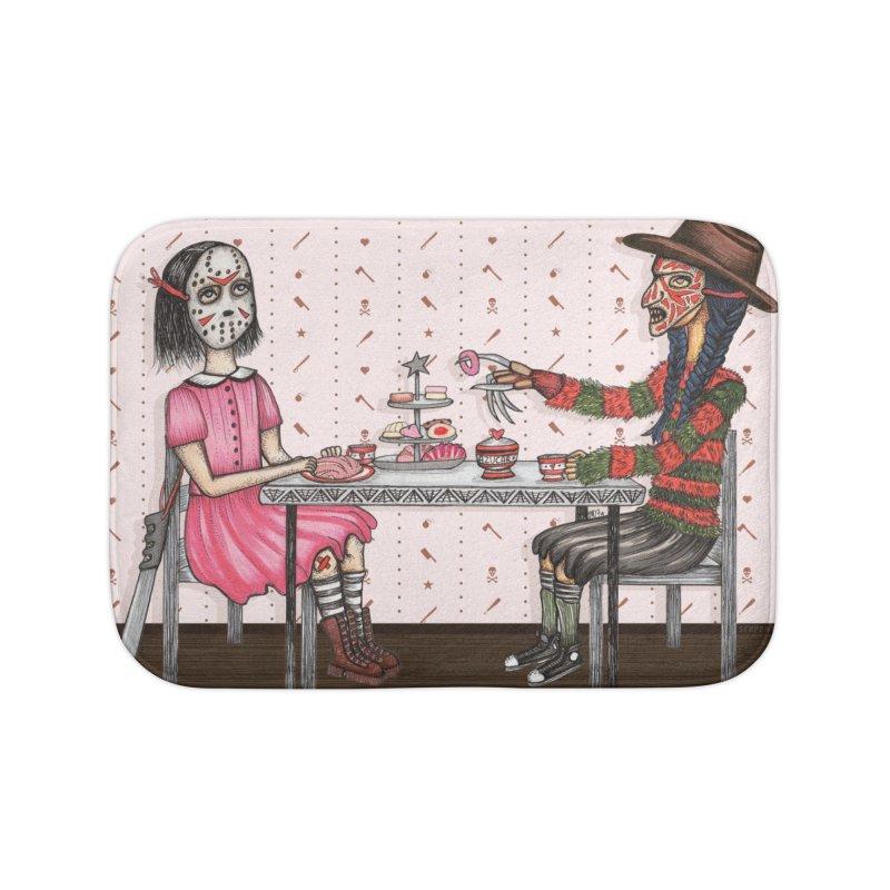 J's Tea Party on Elm Street Home Bath Mat by serpenthes's Artist Shop