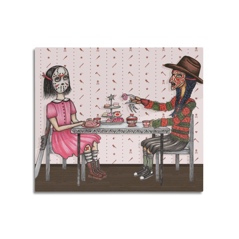 J's Tea Party on Elm Street Home Mounted Aluminum Print by serpenthes's Artist Shop