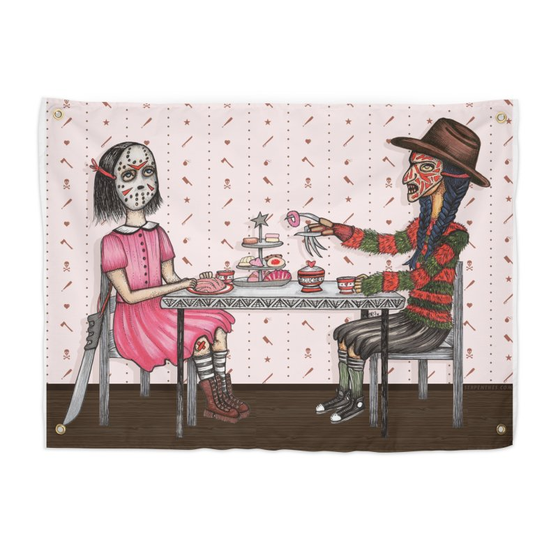 J's Tea Party on Elm Street Home Tapestry by serpenthes's Artist Shop