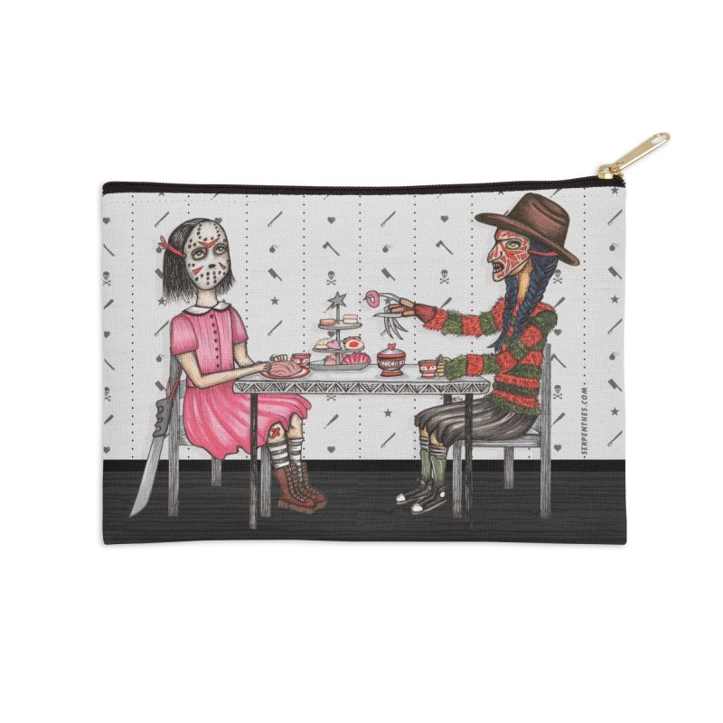 J's Tea Party on Elm Street Accessories Zip Pouch by serpenthes's Artist Shop