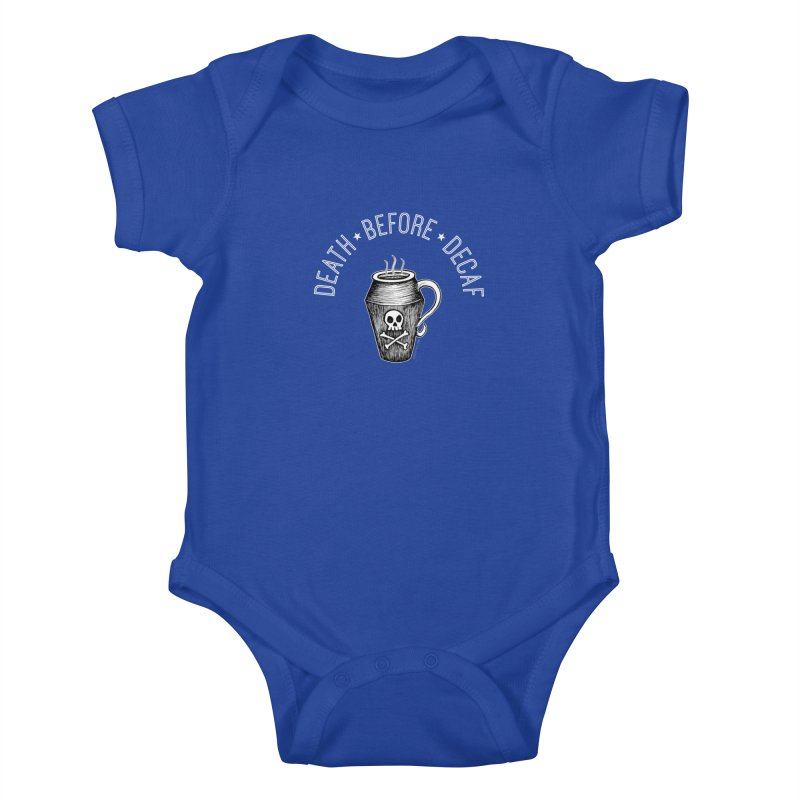 DEATH before Decaf Kids Baby Bodysuit by serpenthes's Artist Shop