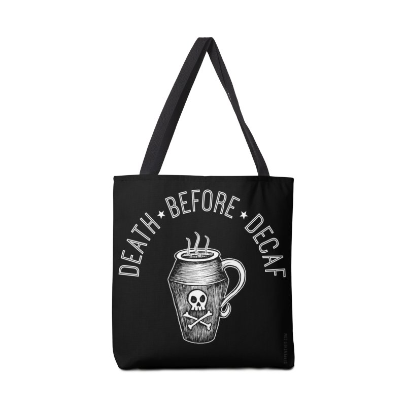DEATH before Decaf Accessories Bag by serpenthes's Artist Shop