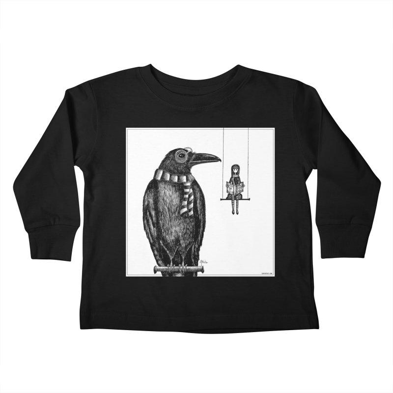 The Poe Aficionados Club Kids Toddler Longsleeve T-Shirt by serpenthes's Artist Shop