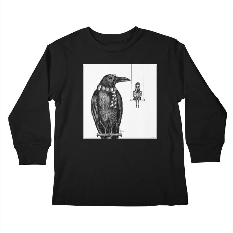 The Poe Aficionados Club Kids Longsleeve T-Shirt by serpenthes's Artist Shop