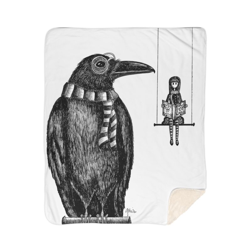 The Poe Aficionados Club Home Sherpa Blanket Blanket by serpenthes's Artist Shop
