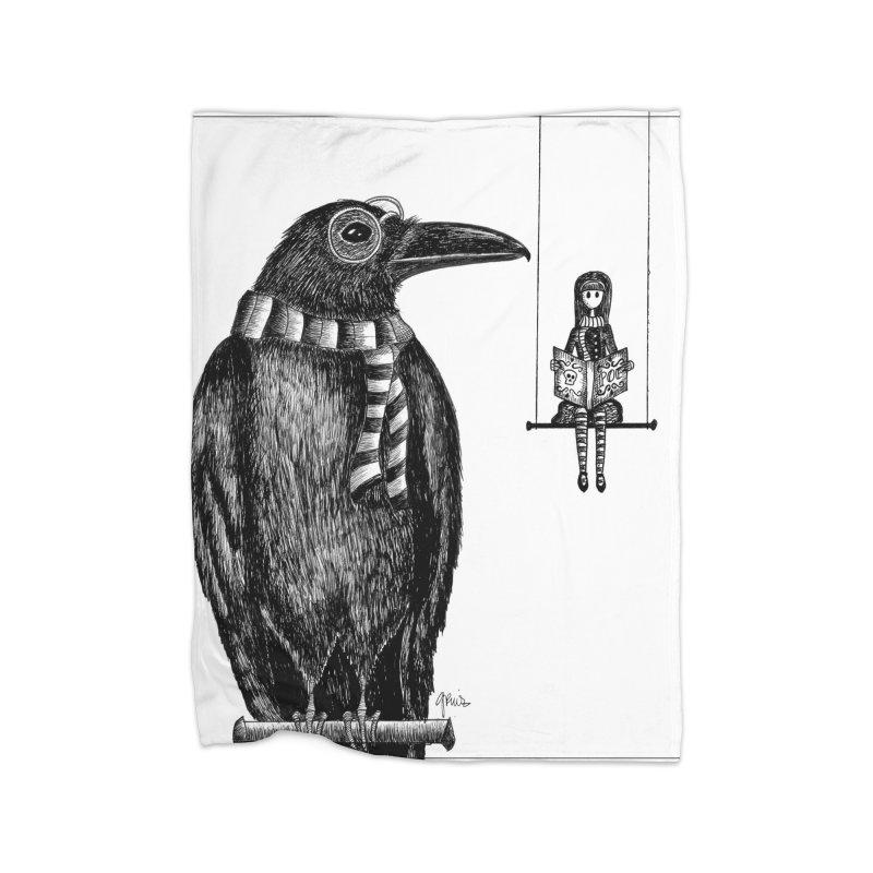 The Poe Aficionados Club Home Blanket by serpenthes's Artist Shop
