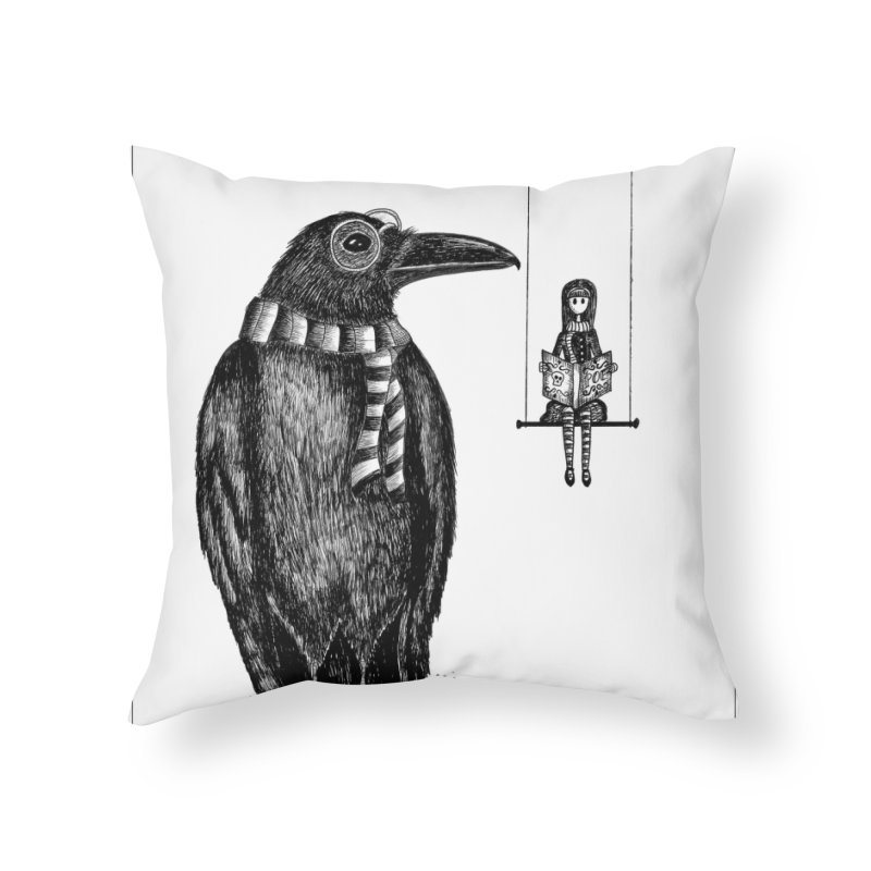 The Poe Aficionados Club Home Throw Pillow by serpenthes's Artist Shop