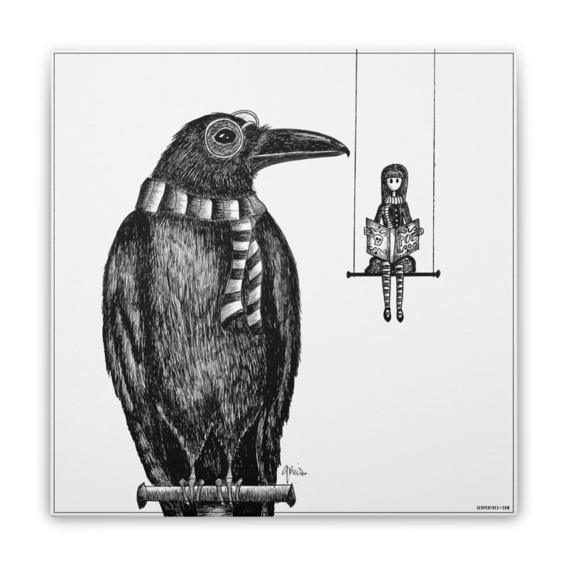 The Poe Aficionados Club Home Stretched Canvas by serpenthes's Artist Shop