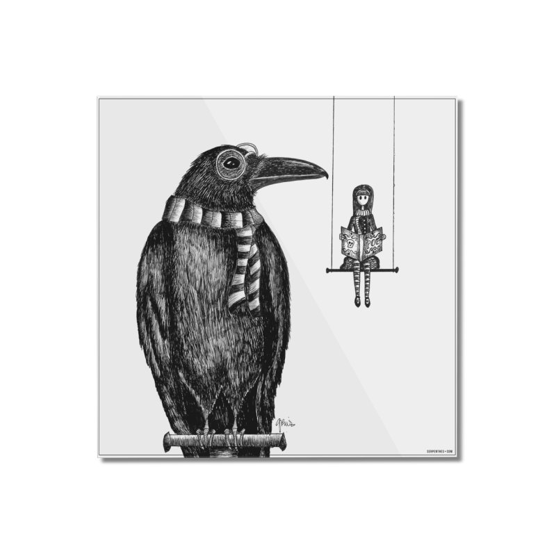 The Poe Aficionados Club Home Mounted Acrylic Print by serpenthes's Artist Shop
