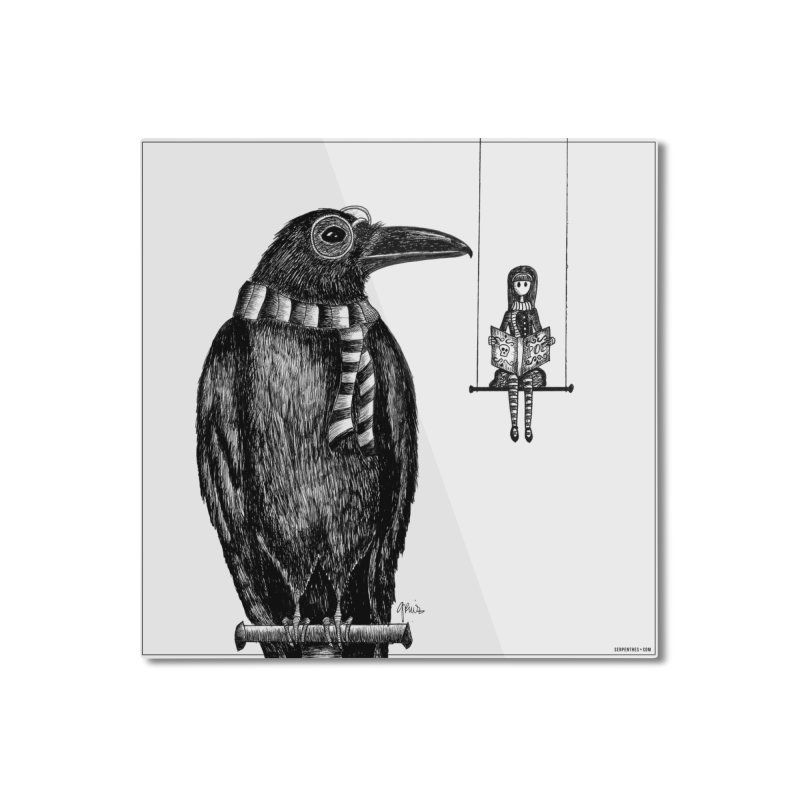 The Poe Aficionados Club Home Mounted Aluminum Print by serpenthes's Artist Shop