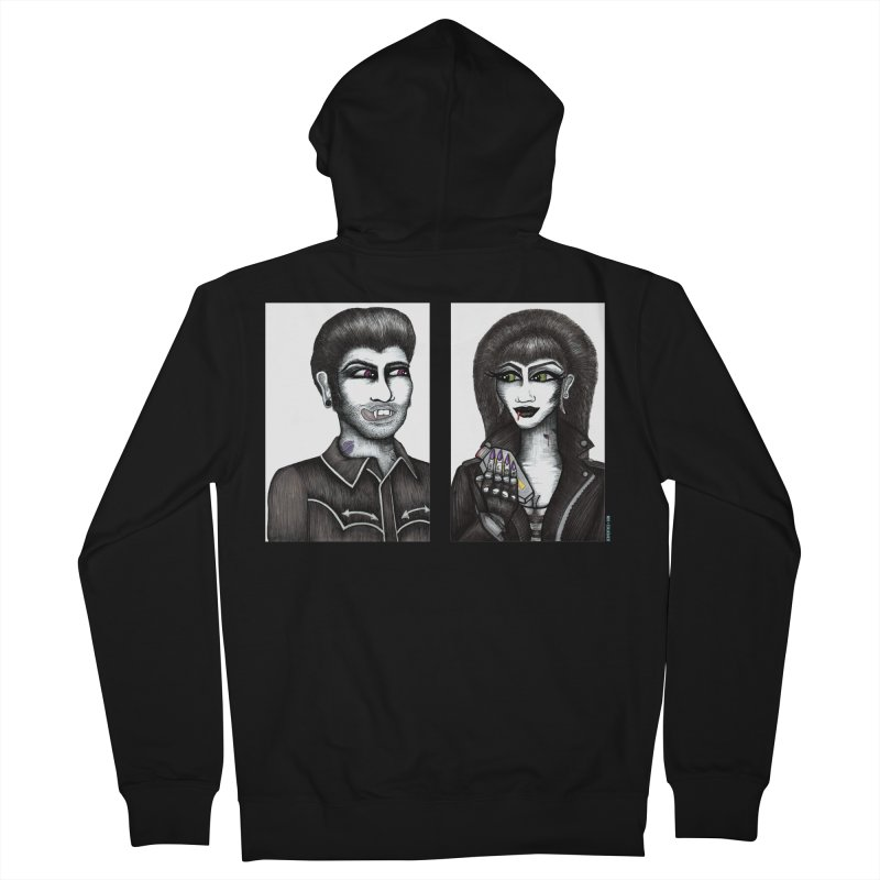 Drac and V Men's Zip-Up Hoody by serpenthes's Artist Shop