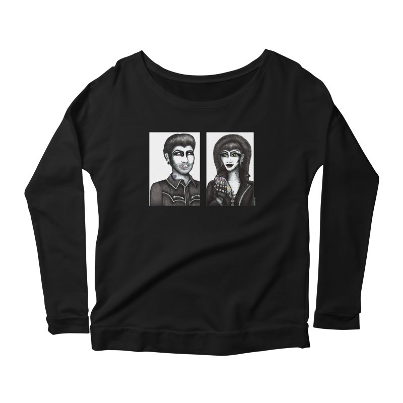 Drac and V Women's Longsleeve Scoopneck  by serpenthes's Artist Shop