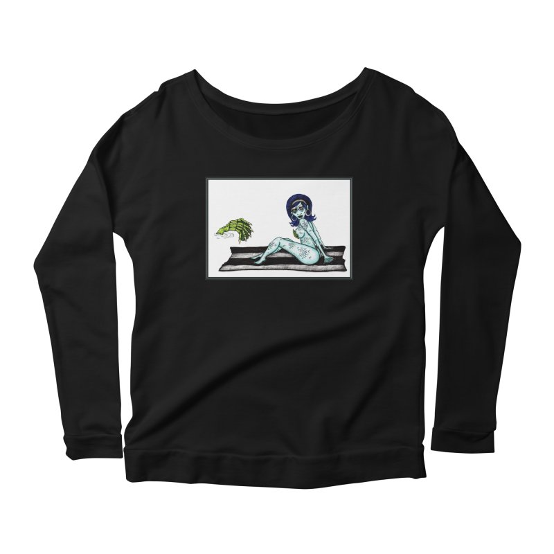 Black Lagoon a GoGo Women's Longsleeve Scoopneck  by serpenthes's Artist Shop