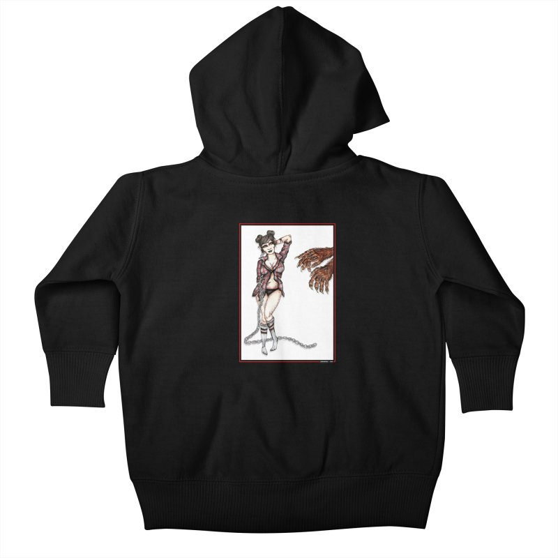 She's Such A Scream Kids Baby Zip-Up Hoody by serpenthes's Artist Shop