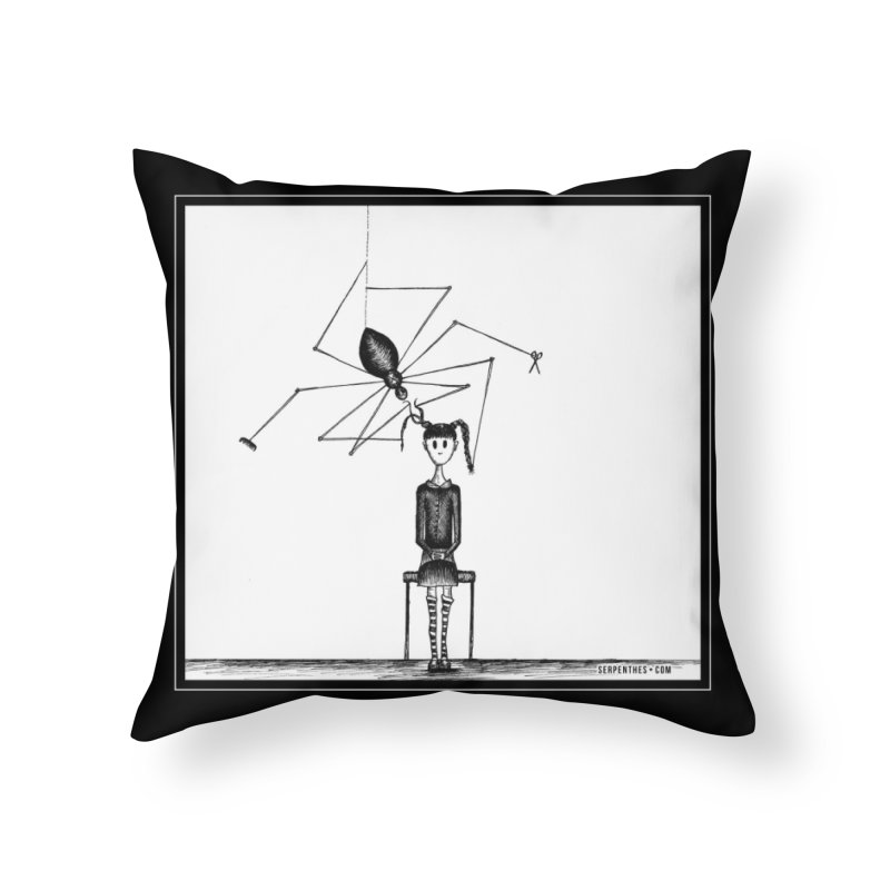 Miss Spider's Salon Home Throw Pillow by serpenthes's Artist Shop