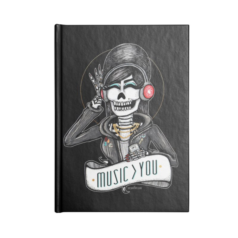 Music > You Accessories Lined Journal Notebook by serpenthes's Artist Shop