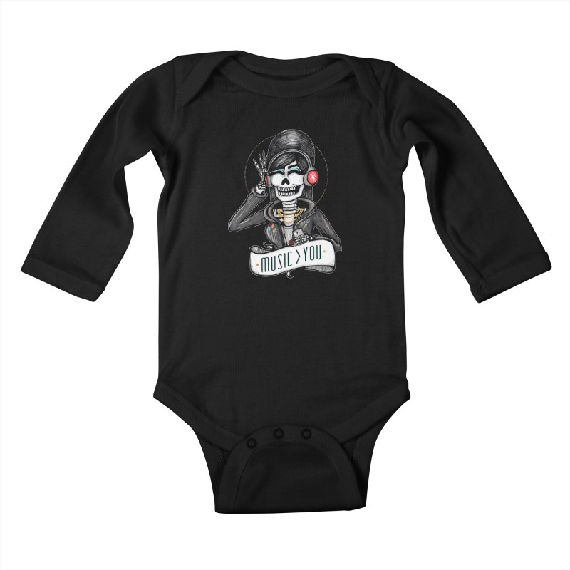 Music > You Kids Baby Longsleeve Bodysuit by serpenthes's Artist Shop