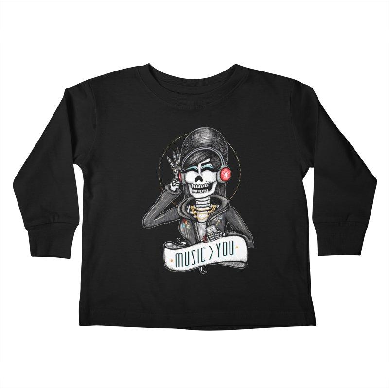 Music > You Kids Toddler Longsleeve T-Shirt by serpenthes's Artist Shop