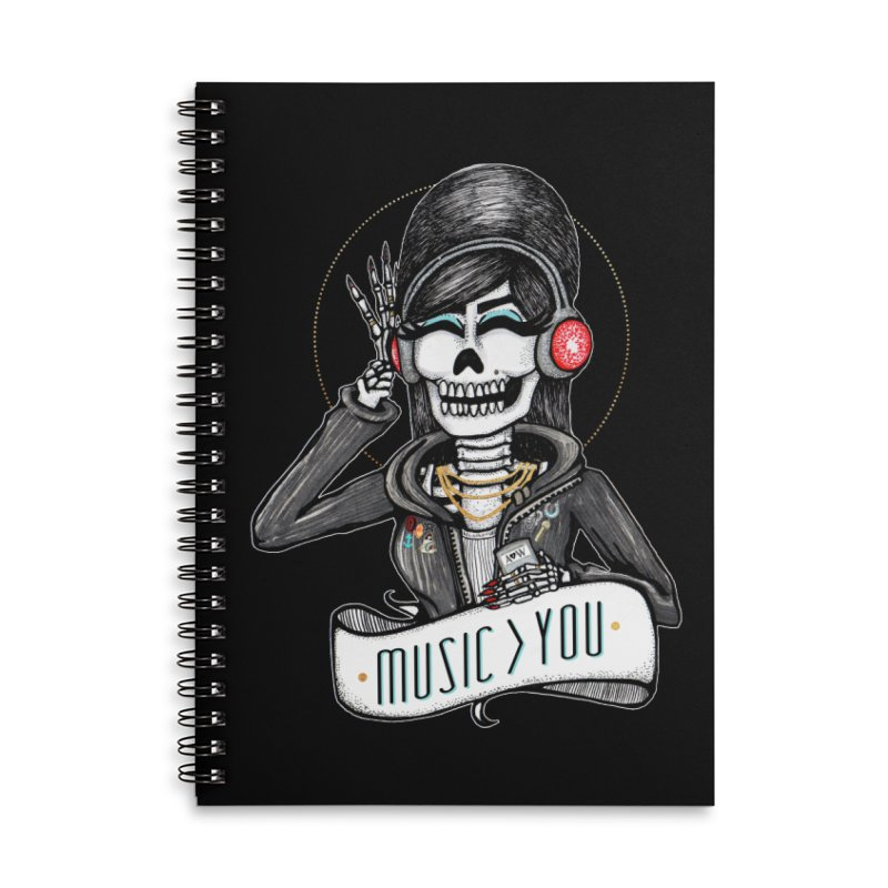 Music > You Accessories Lined Spiral Notebook by serpenthes's Artist Shop