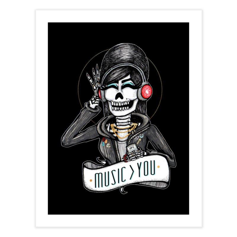 Music > You Home Fine Art Print by serpenthes's Artist Shop