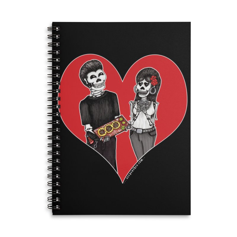 Taquero Mucho Accessories Lined Spiral Notebook by serpenthes's Artist Shop