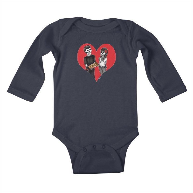 Taquero Mucho Kids Baby Longsleeve Bodysuit by serpenthes's Artist Shop