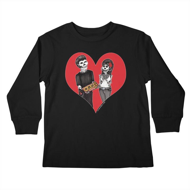 Taquero Mucho Kids Longsleeve T-Shirt by serpenthes's Artist Shop