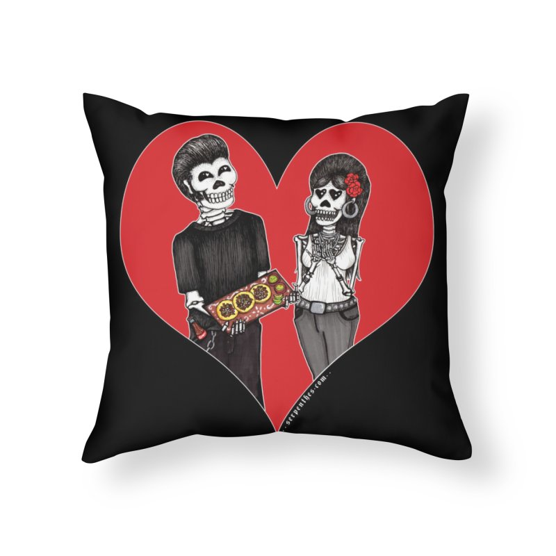 Taquero Mucho Home Throw Pillow by serpenthes's Artist Shop