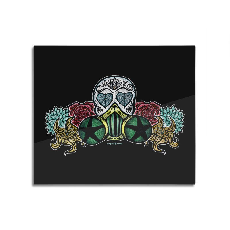 Toxic Home Mounted Aluminum Print by serpenthes's Artist Shop