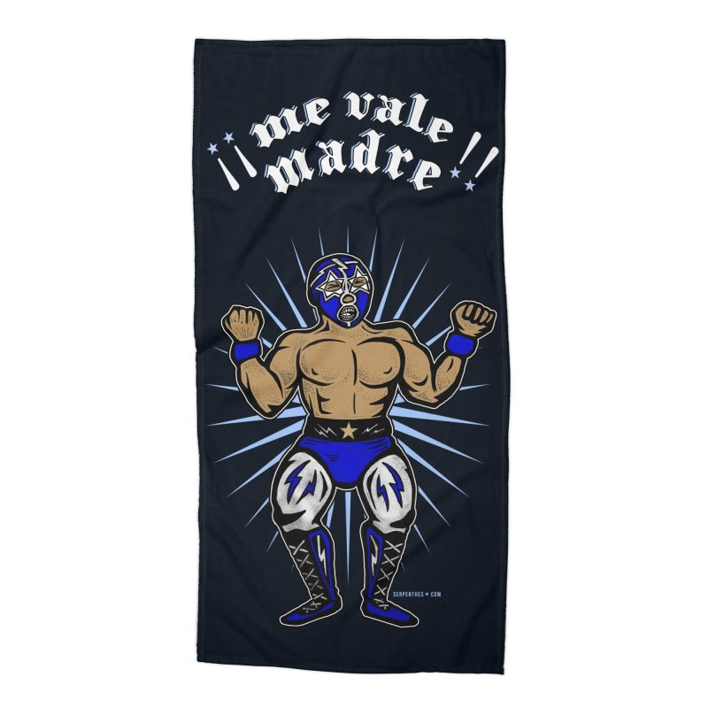 Me Vale Madre! Luchador Accessories Beach Towel by serpenthes's Artist Shop