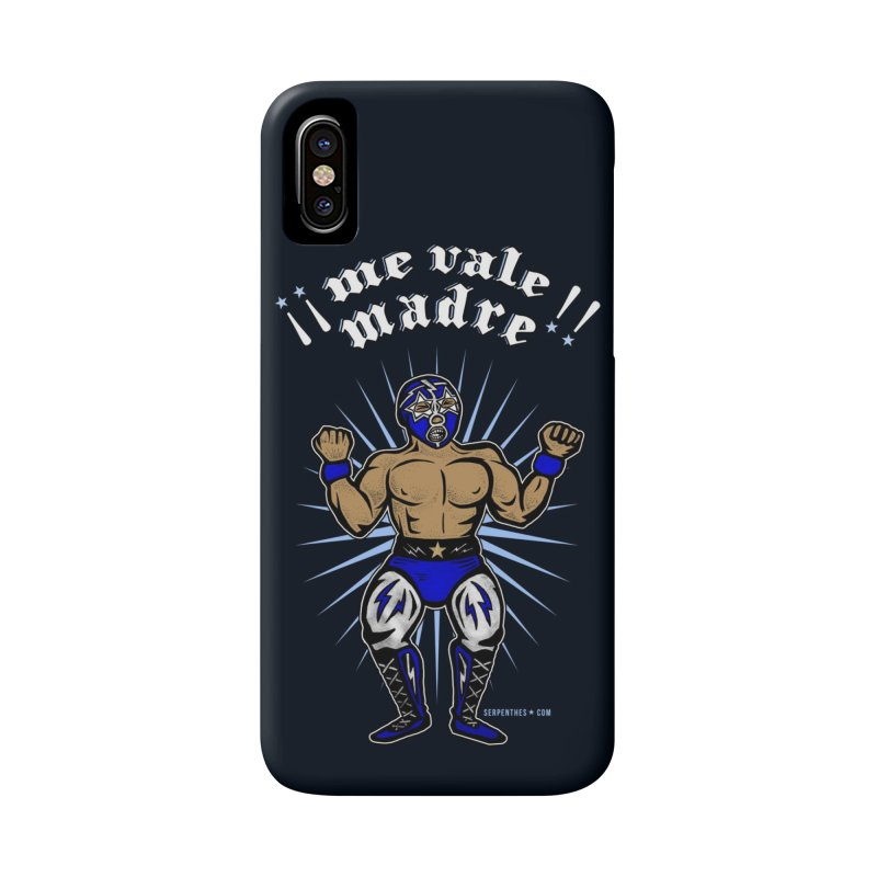 Me Vale Madre! Luchador Accessories Phone Case by serpenthes's Artist Shop