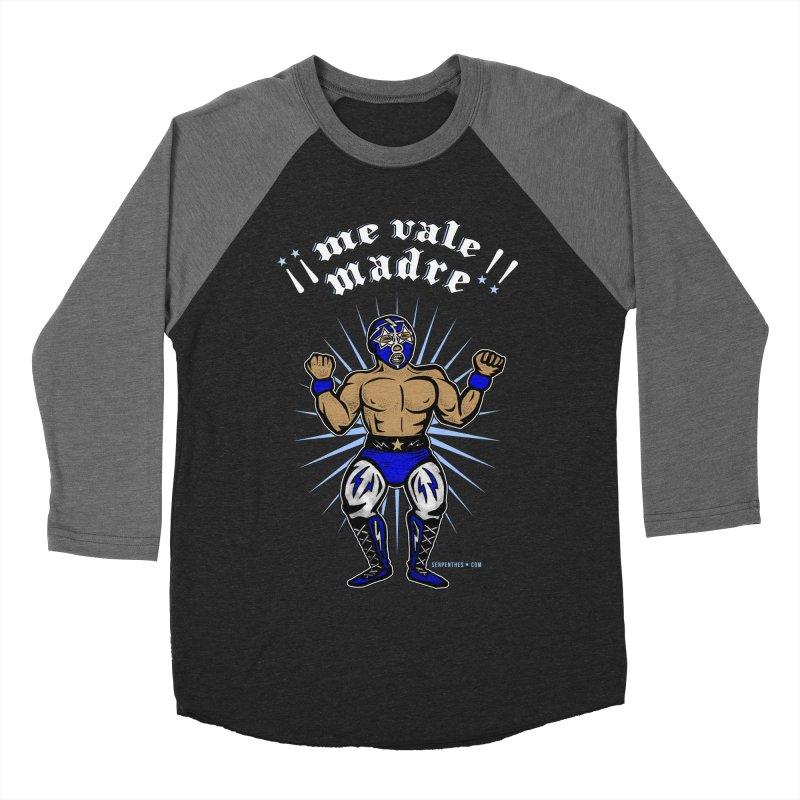 Me Vale Madre! Luchador Men's Baseball Triblend T-Shirt by serpenthes's Artist Shop