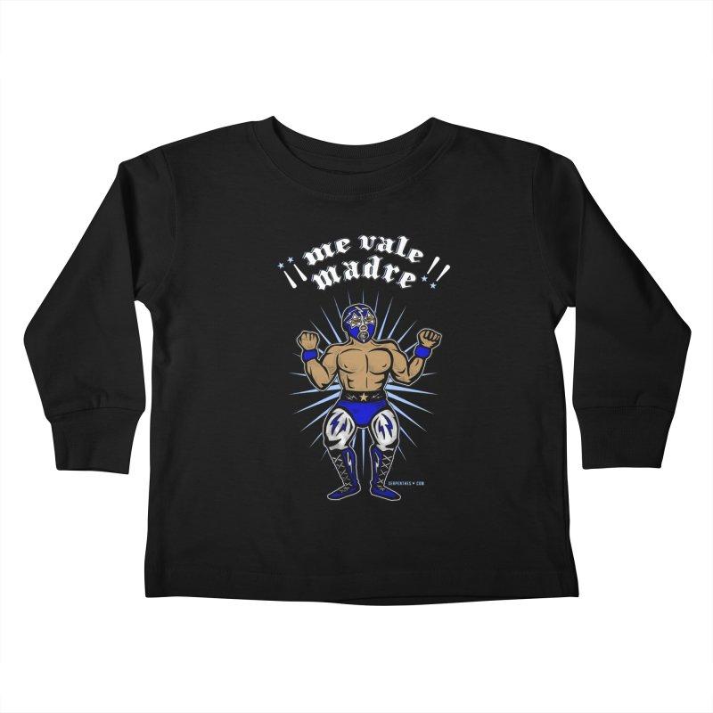 Me Vale Madre! Luchador Kids Toddler Longsleeve T-Shirt by serpenthes's Artist Shop