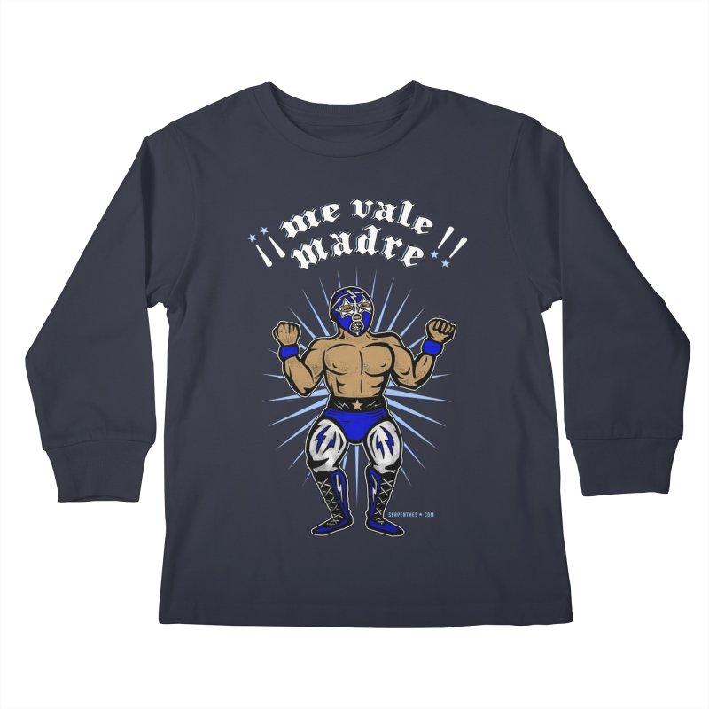 Me Vale Madre! Luchador Kids Longsleeve T-Shirt by serpenthes's Artist Shop