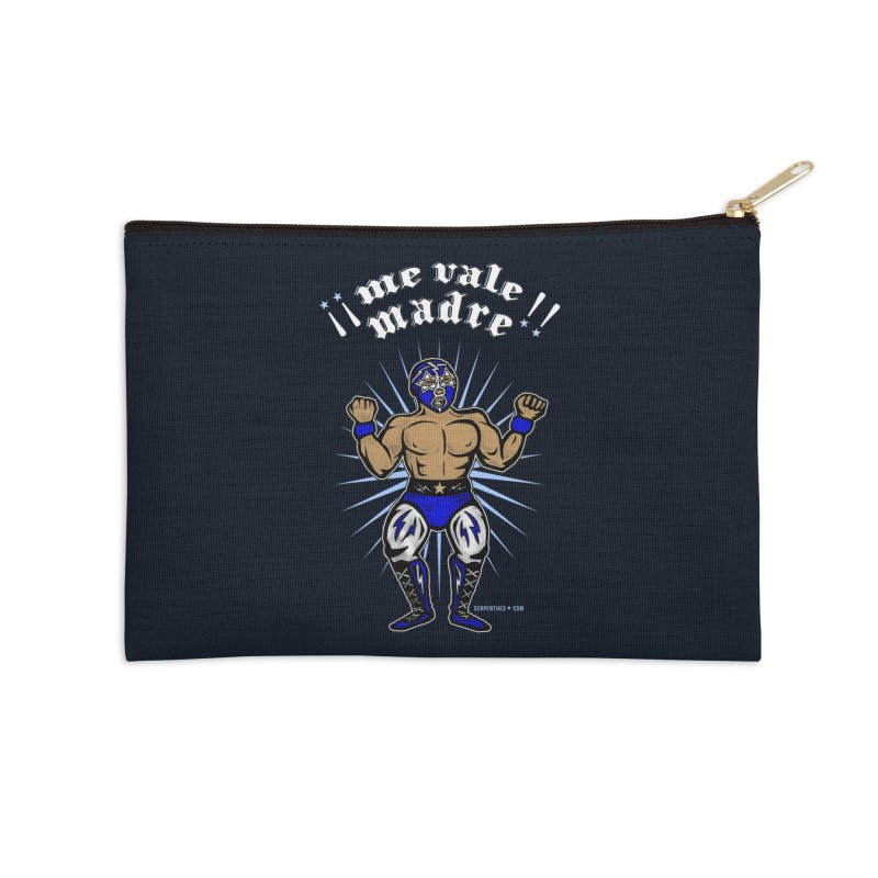 Me Vale Madre! Luchador Accessories Zip Pouch by serpenthes's Artist Shop
