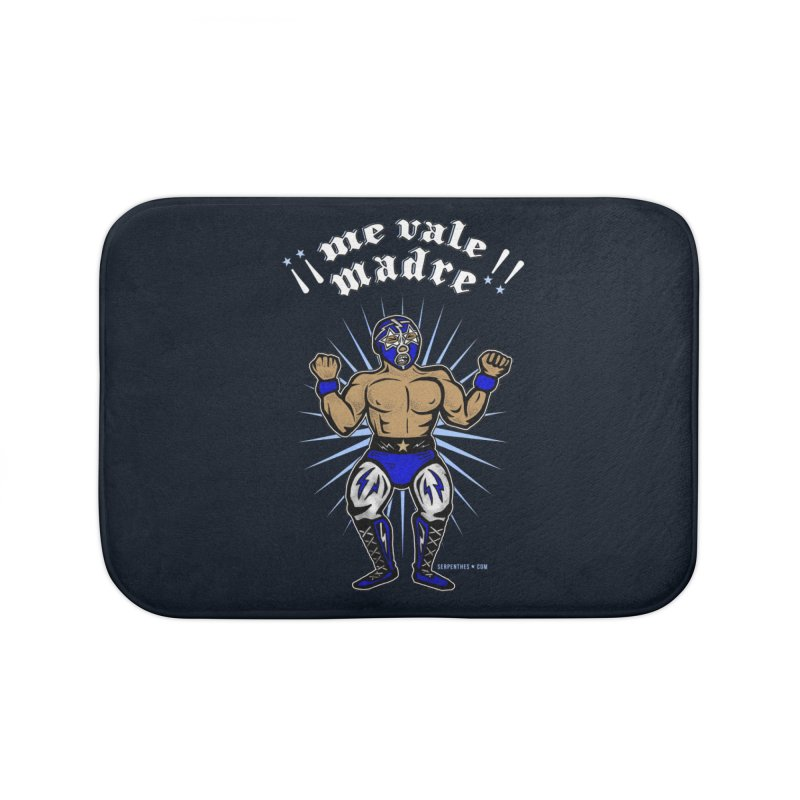 Me Vale Madre! Luchador Home Bath Mat by serpenthes's Artist Shop