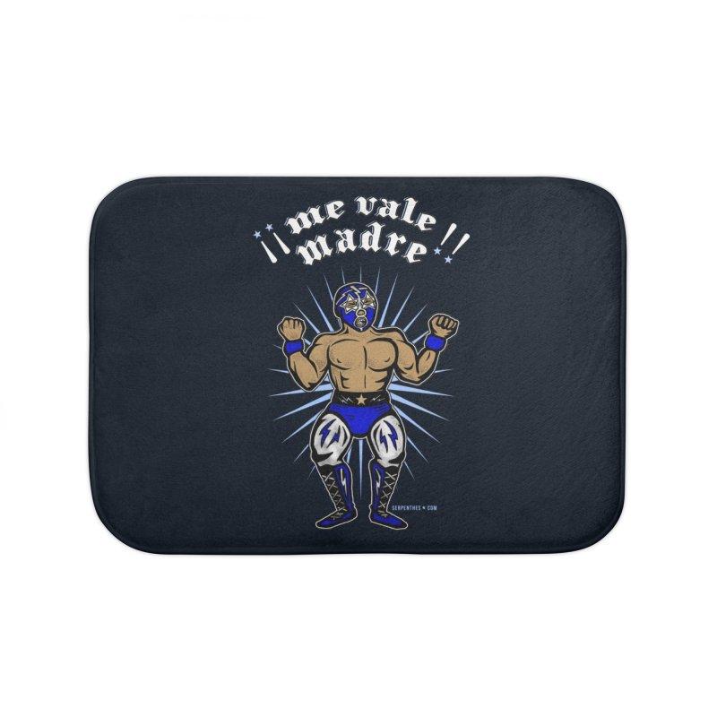 Me Vale Madre! Luchador Home Bath Mat by serpenthes's Artist Shop