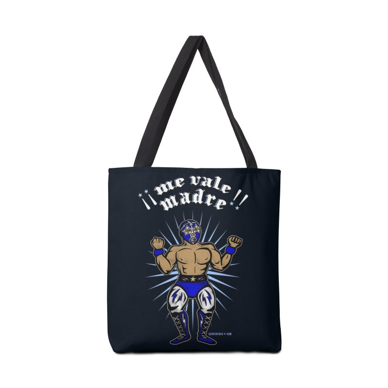 Me Vale Madre! Luchador Accessories Tote Bag Bag by serpenthes's Artist Shop