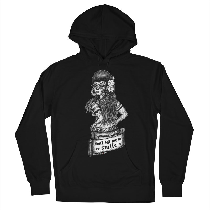 Don't Tell Me To Smile Men's French Terry Pullover Hoody by serpenthes's Artist Shop