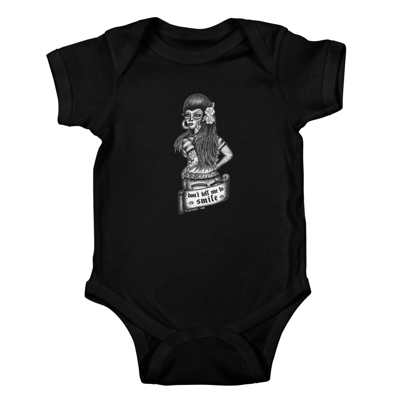Don't Tell Me To Smile Kids Baby Bodysuit by serpenthes's Artist Shop