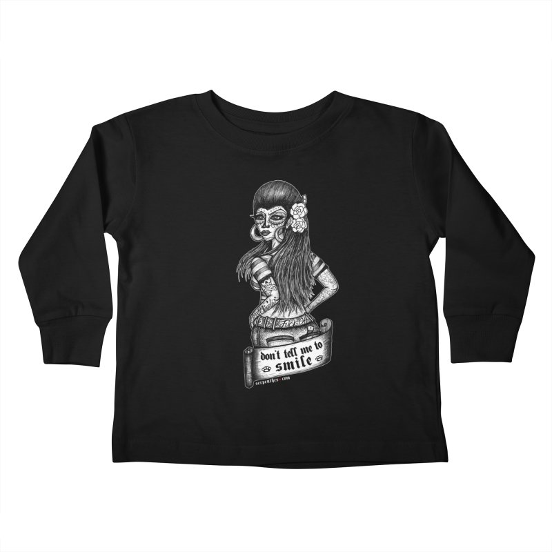 Don't Tell Me To Smile Kids Toddler Longsleeve T-Shirt by serpenthes's Artist Shop
