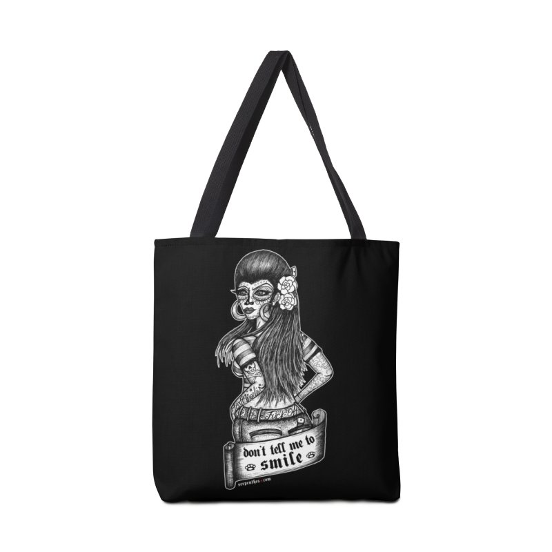 Don't Tell Me To Smile Accessories Tote Bag Bag by serpenthes's Artist Shop