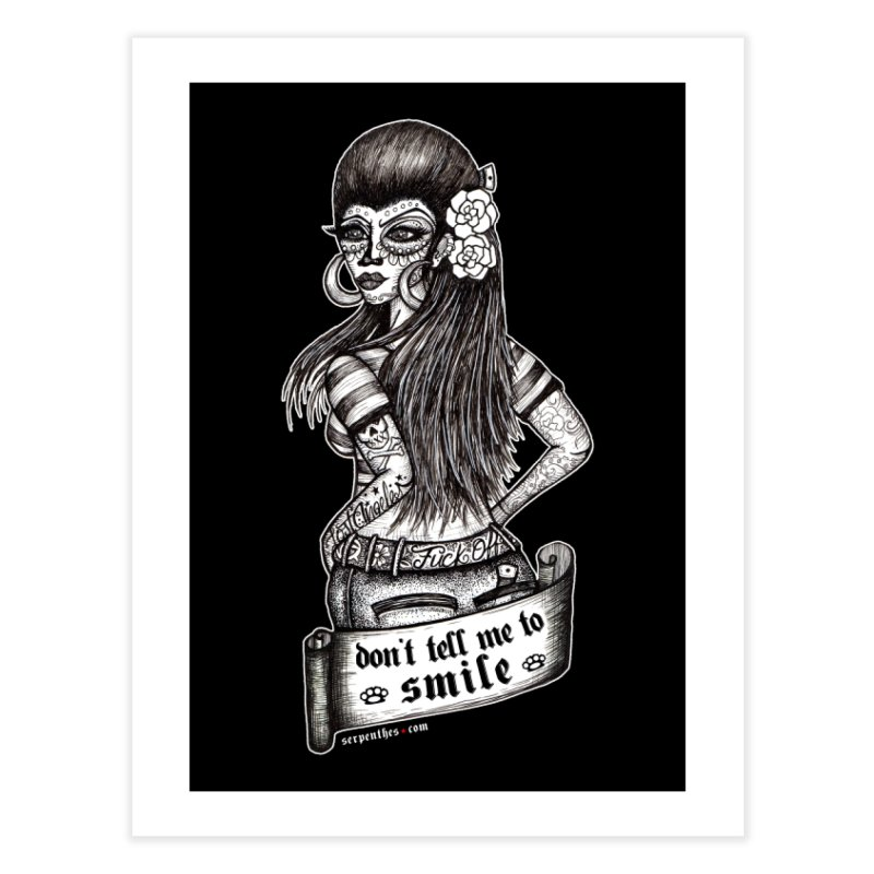 Don't Tell Me To Smile Home Fine Art Print by serpenthes's Artist Shop