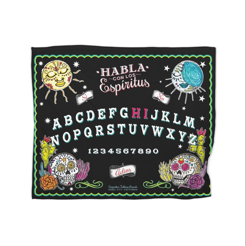 Calavera Ouija Home Fleece Blanket Blanket by serpenthes's Artist Shop